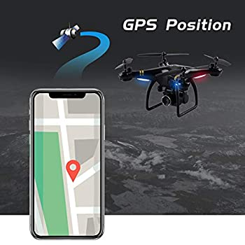 Profissional GPS Drones with Camera HD RC Helicopter WiFi FPV Real Time Quadcopter Altitude Hold Long Time Flying