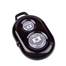 Hmily® Bluetooth Wireless Remote Control Camera Shutter Release Self Time For IOS Android Smartphones Tablets iPhone4 4S 5 5C 5S iPad Mini iPad Air Samsung Galaxy Phone Tab 2 Note 8 10.1(Black)