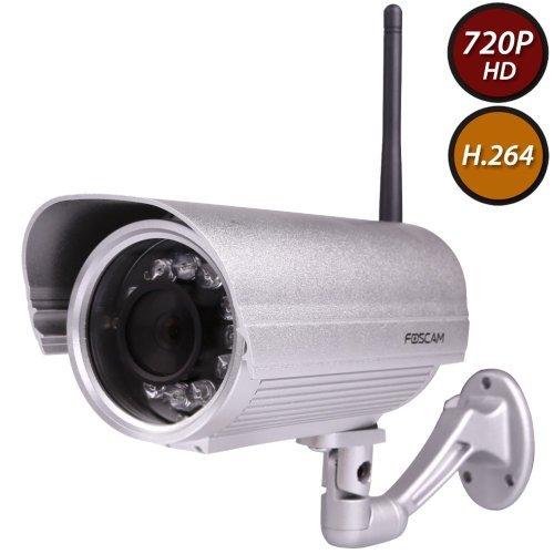 Foscam FI9804P 720P Outdoor HD Wireless IP Camera (Silver)