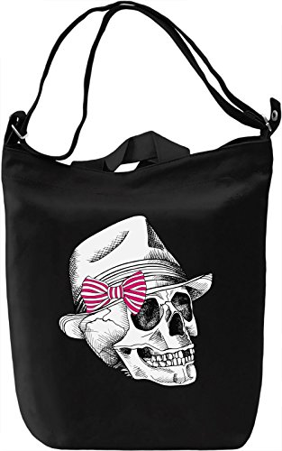 Skull With The Hat Borsa Giornaliera Canvas Canvas Day Bag| 100% Premium Cotton Canvas| DTG Printing|