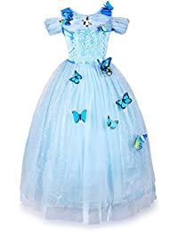 New Cinderella Dress Princess Costume Butterfly Girl