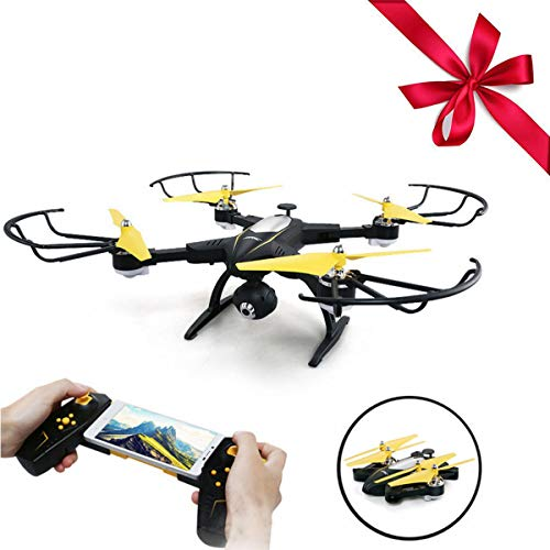 Blexy RC Quadcopter Foldable Remote Control Drone FPV VR Wifi 2.4GHz 6-Axis Gyro 4CH Helicopter with 2MP 720P HD Camera Time Transmission RTF BH39 Black