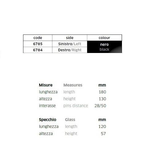 COMPATIBILE CON HONDA CBR 600 RR MOVISTAR COPPIA DI SPECCHIETTI DA CARENA PER MOTO RETROVISORE FAR NERO SPECCHIO 6784+6785+KIT MONTAGGIO M.6 INCLUSO SPECCHI SPORTIVI