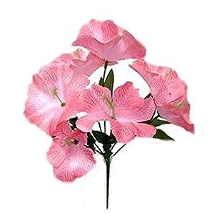 Artificial Garden 5 Hibiscus Pink Silk Flower Floral Arrangements Wedding Flowers Bridal Bouquets Centerpieces Decoration 48