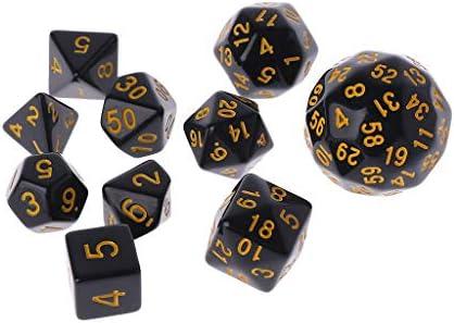 Mayoaoa - Juego de 10 Piezas de Dados de Varios Lados, para Fiestas, Clubes, Regalos, creativos, Adultos, niños, para Juegos Dungeon D y D: Amazon.es: Hogar