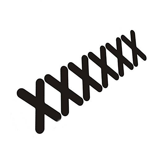 UXOXAS Mix Style Sutures Patch Car Sticker (6PC), black