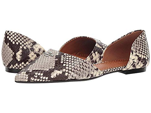 Coach Printed Exotic Pointy Toe Flat Natural 8.5