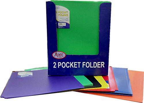 Two Pocket Plastic Folders - 9.5'' x 11.5'' 60 pcs sku# 1294686MA by DDI
