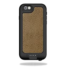 MightySkins Protective Vinyl Skin Decal for Mophie Juice Pack H2PRO iPhone 6 case wrap cover sticker skins Sandlwood Leather