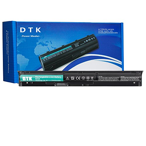 DTK RI04 RI04XL RI06XL Laptop Battery Replacement for HP ProBook 450 G3 / 450 G4 / 455 G3 / 455 G4 / 470 G3 / 470 G4 Notebook [Li-ion 4-Cell 14.8V 2500mAh]