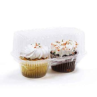 Amazon Com 2 Count Clear Plastic Hinged Cupcake Muffin