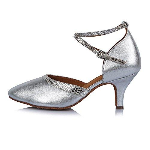 YFF Puntera cerrada profesional Zapatos de baile moderno Tango Salón de cuero 31409