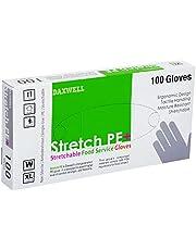 Daxwell Stretch Polyethylene Glove, Extra Large, White (Box of 100 Gloves)
