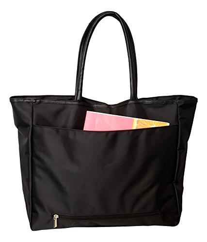 Large Black Organizing Travel Companion Purse Handbag Bag (No Embroidery - Black) by Sona G Designs (Image #2)