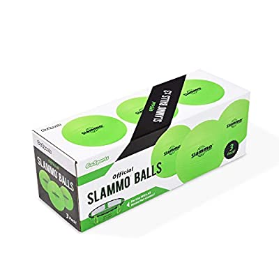 GoSports Slammo Official Replacement Balls 3-Pack | Works for All Roundnet Game Sets | Choose Between Competition Size or XL Size Balls from Go Sports
