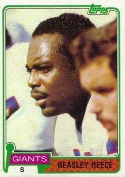 1981 Topps Regular (Football) Card# 504 Beasley Reece of the New York Giants ExMt Condition ()