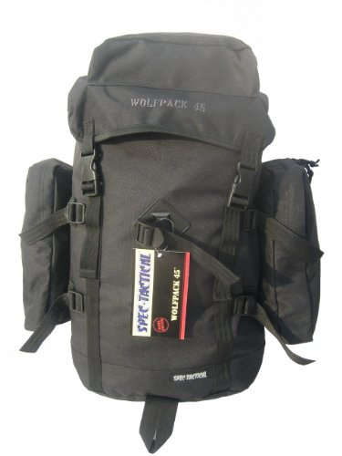 SpecTactical Wolfpack 45L – Black, Outdoor Stuffs