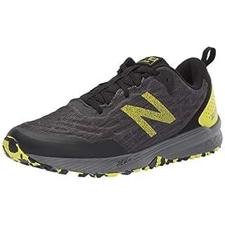 New Balance Men's Nitrel V3 Trail Running Shoe, Black/Yellow, 11 M US