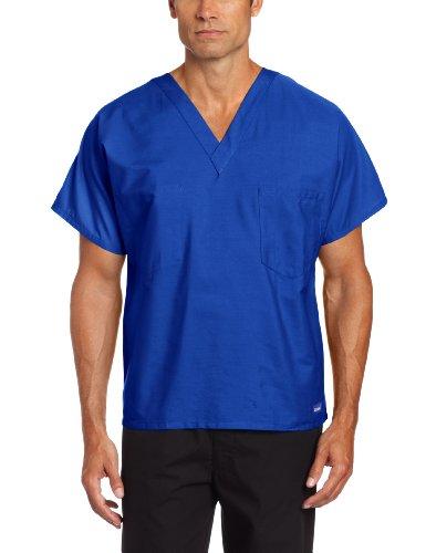 Landau Premium Uniform Reversible One Pocket V-Neck Scrub Top, Galaxy Blue, -