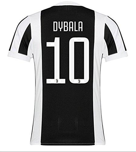 's Juventus Dybala #10 Home Jersey (White/Black) (M) (Juventus Home Jersey)