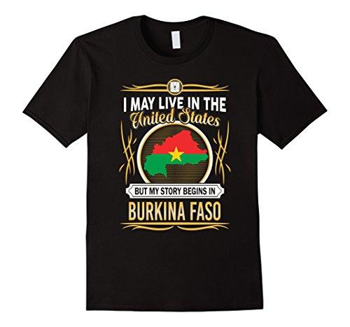 Mens Burkina Faso live in united states T-Shirt XL Black