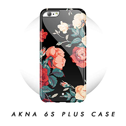 iPhone 6 Plus & iPhone 6s Plus Case Vintage Floral, Akna Charming Series High Impact Silicon Cover with Full HD+ Graphics for iPhone 6 Plus & iPhone 6s Plus (101594-U.S)