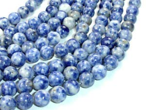 (Blue Spot Jasper Beads, Round, 8mm (8.6 mm), 15.5 Inch (153054001) Crafting Key Chain Bracelet Necklace Jewelry Accessories Pendants)