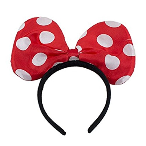 Led Minnie Costume (LED Light Up Jumbo Polka Dot Bow Headband Red)