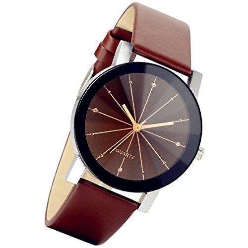 lancardo-mens-black-round-dial-clock-leather-strap-quartz-wrist-watchbrown