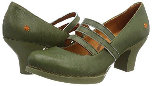 Closed Memphis Green Heels Art Kaki Women''s Toe 1064 Kaki Harlem qwEI14g