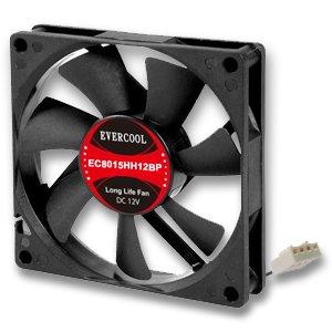 Evercool EC8015HH12BP 80mm x 15mm Hi-Speed Dual Ball Bearing PWM 4 Pin Fan