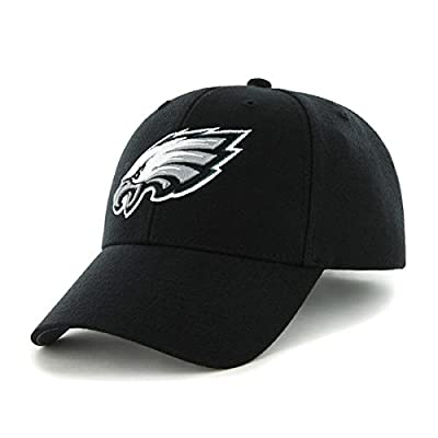 '47 Philadelphia Eagles NFL Brand Basic Black MVP Hat Cap Adult Men's Adjustable by 47