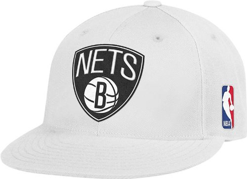 (NBA Brooklyn Nets Flat Brim Flex Fit Hat, Large/X-Large)