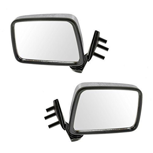 Chrome Manual Side View Mirrors Pair Set for Pathfinder D21 Hardbody Pickup