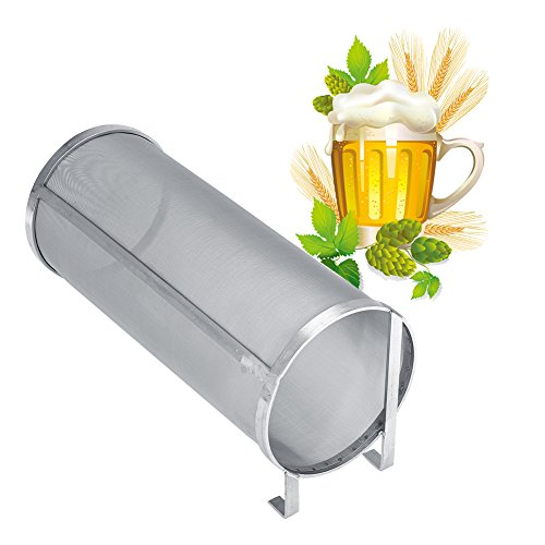 Stainless Steel Brew Filter, Homemade Brew Beer Hop Mesh Filter Strainer 300 Micron Beer Mesh Strainer with Hook for Home Brew Kegging Equipment (5.91 x 13.78in) by Yosooo
