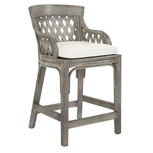 OSP Home Furnishings Plantation Stool Grey