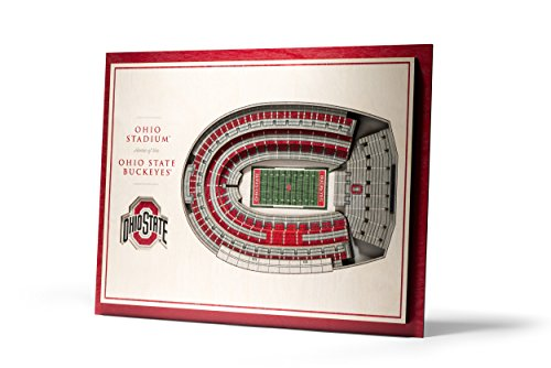 NCAA Ohio State Buckeyes 5-Layer Stadiumviews 3D Wall Art