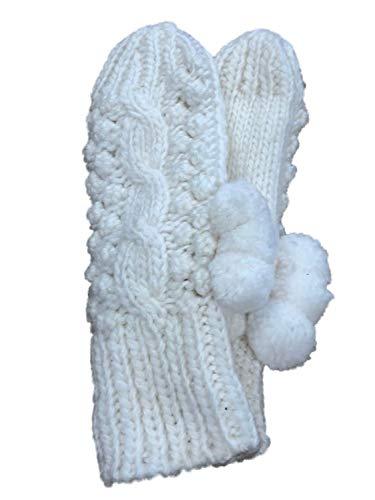 Lumpy Ivory White Knit Pom...
