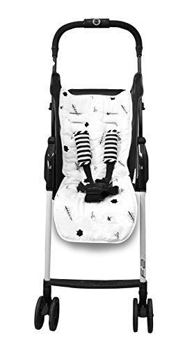 toTs Stroller Liner + Padded Safety Strap Covers, Forest, Black & White by toTs (Image #2)