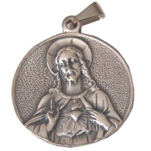 Sacred Heart/Immaculate Heart - Pewter (3cm-1.2