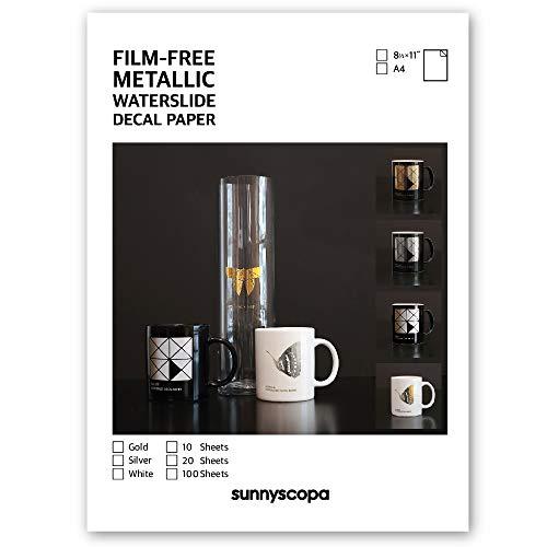 Sunnyscopa Laser Film-Free Metallic Decal Paper 8.5