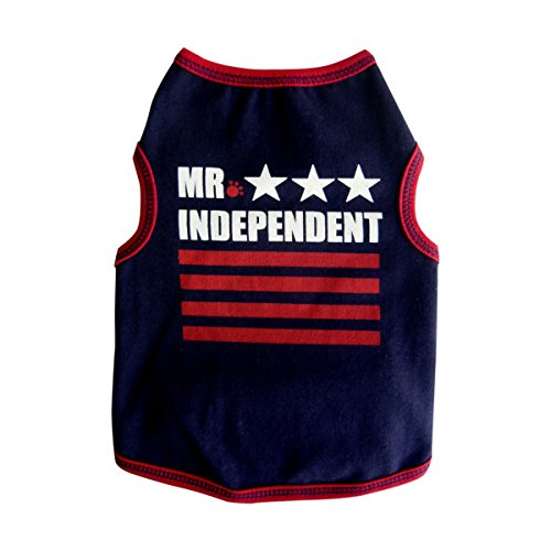 I See Spot Mr. Independent Tank, Large, Navy Blue