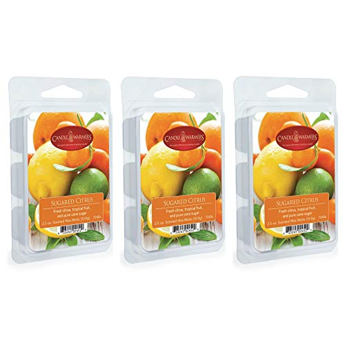 CANDLE WARMERS ETC. 2.5 oz Wax Melt 3-Pack, Sugared Citrus