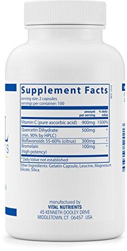 Vital-Nutrients-Aller-C-Quercetin-Vitamin-C-and-Bioflavonoids-Respiratory-Sinus-Support-200-Capsules