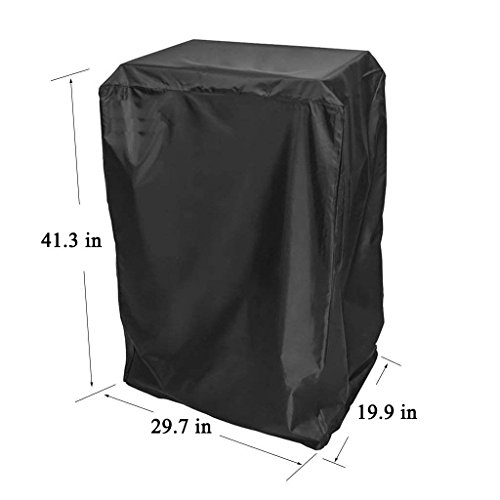 Onlyfire 40- Inch Square BBQ Grill Cover for Masterbuilt Propane Smoker, Black