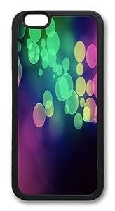 Bokeh light multicolor Custom iphone 6 plus 5.5 inch Case Cover TPU Black