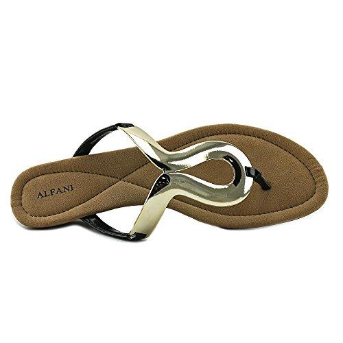 Sandali T-strap Casual Alfani Donna Open Toe Neri