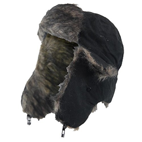 IMTD Herren Outdoor atmungsaktiv tragen Dusche Proof Winter Warm Trapper Ski Hunter Kosaken Hat Hike Walking