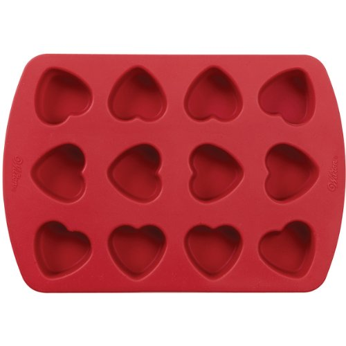 Flexible Heart Cake Mold - Wilton Petite Silicone 12 Cavity Heart Pan