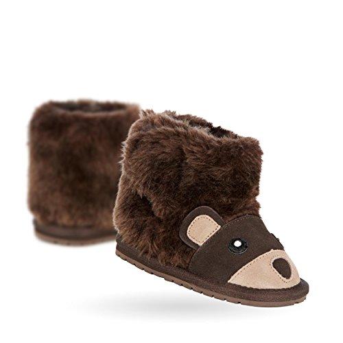 EMU Babies Bear Walker Deluxe Wool Boots in Chocolate Siz...